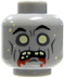 lego loose head zombie white eyes