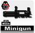 minigun black lego compatible minifigure piece