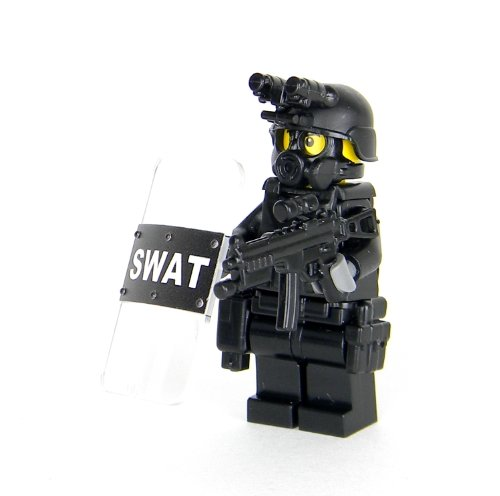 Swat Police Officer Pointman Brickarms Weapons For Legos