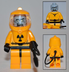 lego zombie hazmat guy- custom series