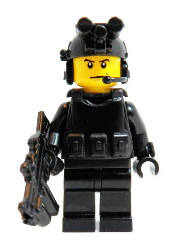 Black Ops Soldier - Custom Mini Bigs Minifigure
