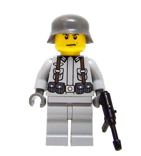 German Soldier (wwii) - Mini Bigs Custom Minifigure