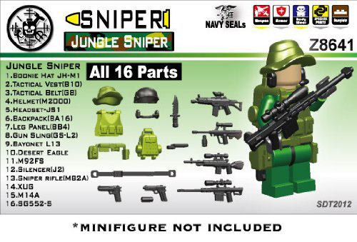 Jungle Sniper Minifigure Gear Pack